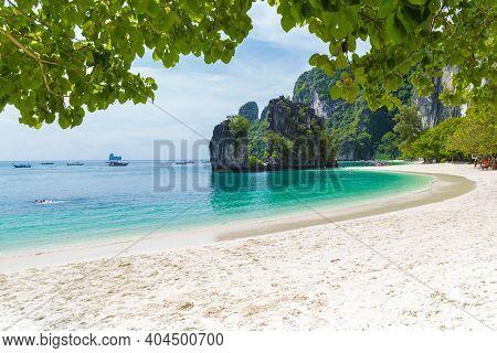 Koh Hong Island Beach At Krabi Province, Thailand.