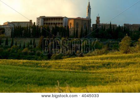View Of Pienze, Italy.
