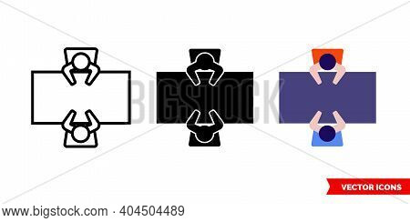 Negotiation Icon Of 3 Types Color, Black And White, Outline.isolated Vector Sign Symbol.