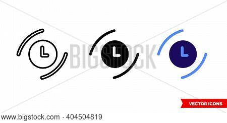 Present Icon Of 3 Types Color, Black And White, Outline. Isolated Vector Sign Symbol.