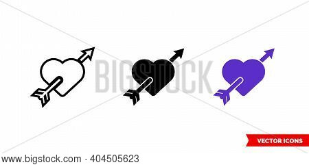 Tattoo Icon Of 3 Types Color, Black And White, Outline. Isolated Vector Sign Symbol.