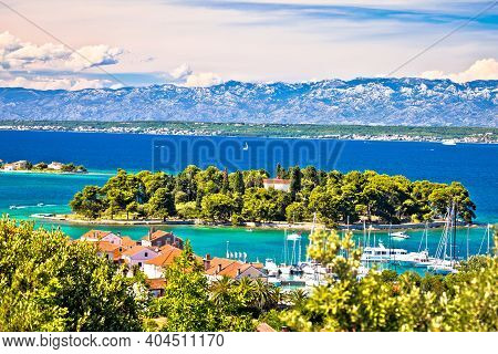 Zadar Archipelago. Island Of Ugljan Waterfront And Galovac View, Preko In Dalmatia Region Of Croatia