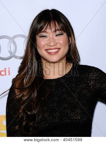LOS ANGELES - DEC 02:  Jenna Ushkowitz arrives to Trevor Project Honors Katy Perry  on December 02, 2012 in Hollywood, CA