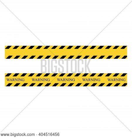Warning Stripe. Yellow And Black Set Stripes. Barricade Construction Tape. Vector Illustration Isola