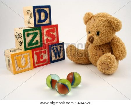 Bear, Blocks And Marbles
