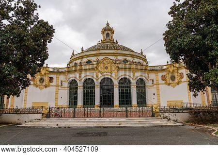 Seville, Spain - 10 January, 2021: View Of The Lope De Vega Theater In Seville