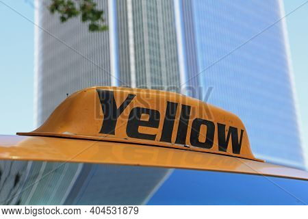 Yellow Cab In Los Angeles. California. Usa