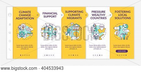 Social Change Catalyst Adaptation Onboarding Vector Template. Responsive Mobile Website With Icons.