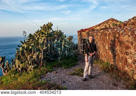 Roque En Taganana, Landscapes Of Taganana In Tenerife, Spain, Canary Islands. Hiking From Taganana A