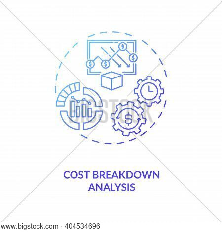 Cost Breakdown Analysis Concept Icon. Cost Reduction Strategy Idea Thin Line Illustration. Company I