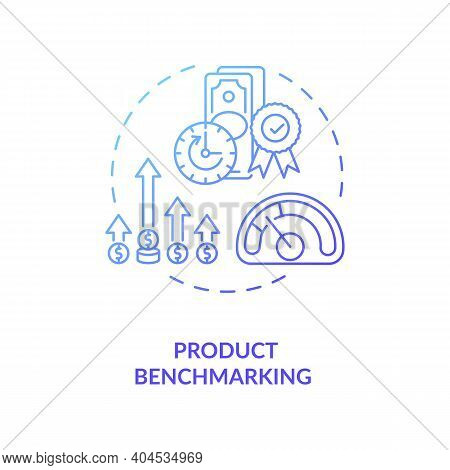 Product Benchmarking Concept Icon. Cost Reduction Idea Thin Line Illustration. Business Process Impr
