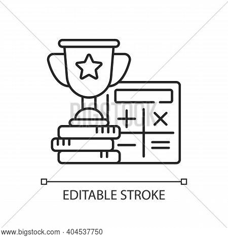 Odds Calculator Linear Icon. Betting Converter. Wagers Profit. Calculating Winnings. Thin Line Custo