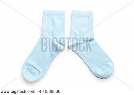 Colored Socks From Thin Jersey Isolated On A White Background.