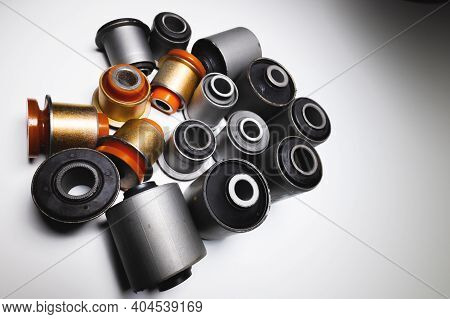 A Complete Set Of Suspension Bushings For An Suv Car. Car Chassis Spare Parts.