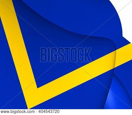 3d Flag Of Boekel (north Brabant), Netherlands. 3d Illustration.