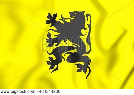3d Flag Of Flemish Movement. 3d Illustration.
