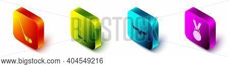 Set Isometric Ice Hockey Stick, Ice Hockey Stick And Puck, Ice Hockey Sticks And Puck And Medal Icon