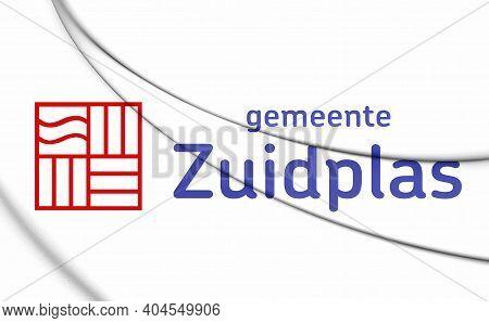 3d Flag Of Zuidplas (south Holland), Netherlands. 3d Illustration.