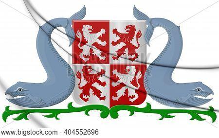 3d Zaanstad Coat Of Arms (north Holland), Netherlands. 3d Illustration.