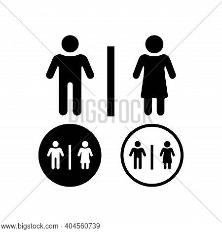 Restroom Signs. Wc Symbols. Toilet Sign Bathroom Male And Female Icon. Men And Women Icon. Toilet Ic