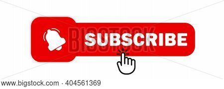 Subscribe With Cursor. Bell Button And Hand Cursor. Subscribeicon. Red Button Subscribe To Channel,