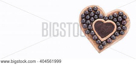 Acai Amazon Berry - Euterpe Oleracea. Text Space