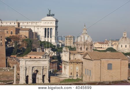Forum In Rome Looking To Vittoriano