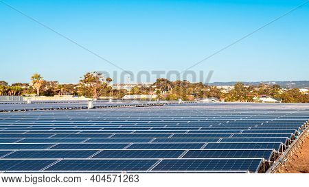 New Solar Panel Farm Construction Near O'sullivan Beach, South Australia