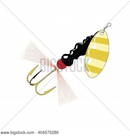 Fishing Lure Vector Illustration Isolated On A White Background In Eps10