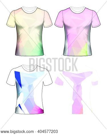 Shirt, T, Template, Back, Vector, Front, Design, White, T-shirt, Fashion, Clothing, Clothes, Illustr