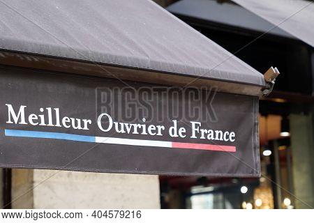 Bordeaux , Aquitaine  France - 01 18 2021 : Meilleur Ouvrier De France Text French Logo And Brand Si