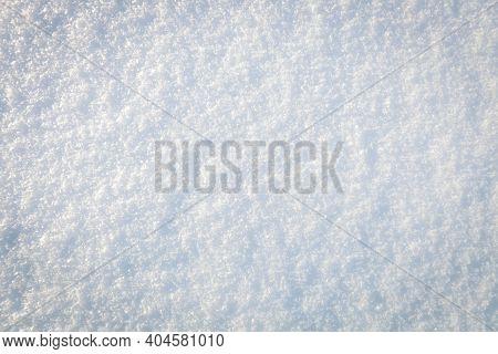 Fresh Clean Untouched Snow Texture. Winter Background
