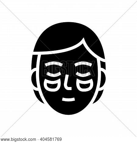 Eye Patches Glyph Icon Vector. Eye Patches Sign. Isolated Contour Symbol Black Illustration
