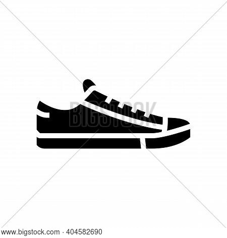 Sneakers Shoe Glyph Icon Vector. Sneakers Shoe Sign. Isolated Contour Symbol Black Illustration