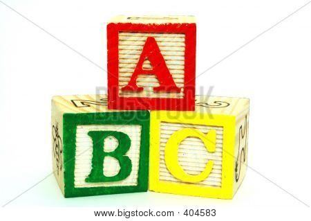 Toy Blocks - Letters