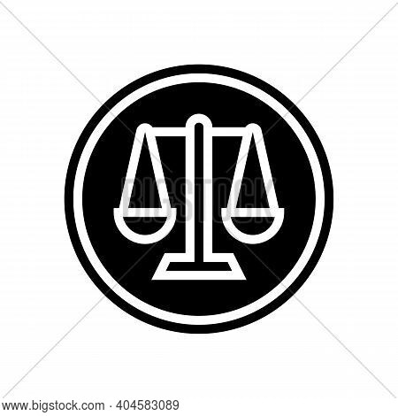 Court Sign Glyph Icon Vector. Court Sign Sign. Isolated Contour Symbol Black Illustration