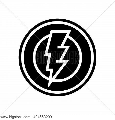 Electricity Service Sign Glyph Icon Vector. Electricity Service Sign Sign. Isolated Contour Symbol B