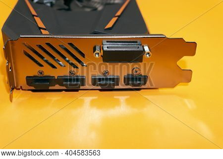 Graphic Card Isolated On White Pci Power,