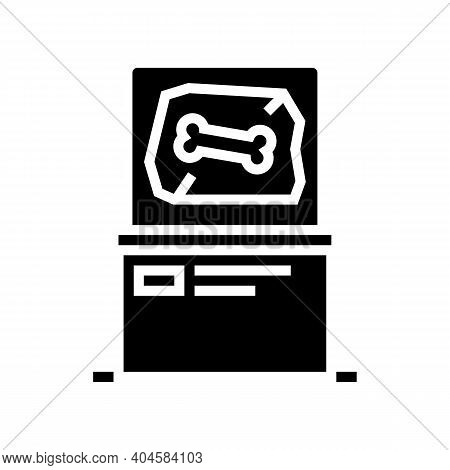 Prehistoric Bone Glyph Icon Vector. Prehistoric Bone Sign. Isolated Contour Symbol Black Illustratio