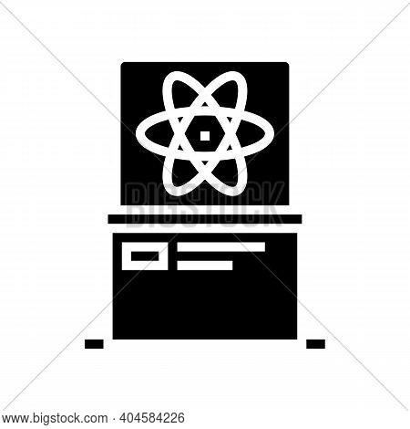Science Exhibit Glyph Icon Vector. Science Exhibit Sign. Isolated Contour Symbol Black Illustration