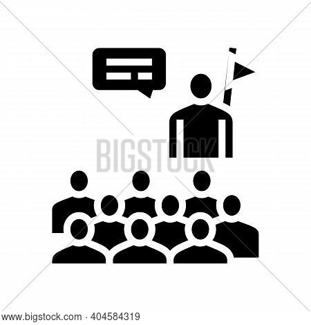 Guid And Visitor Group Glyph Icon Vector. Guid And Visitor Group Sign. Isolated Contour Symbol Black