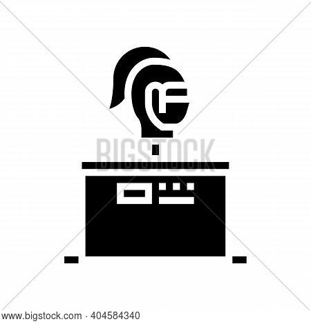 Medieval Rider Knight Glyph Icon Vector. Medieval Rider Knight Sign. Isolated Contour Symbol Black I