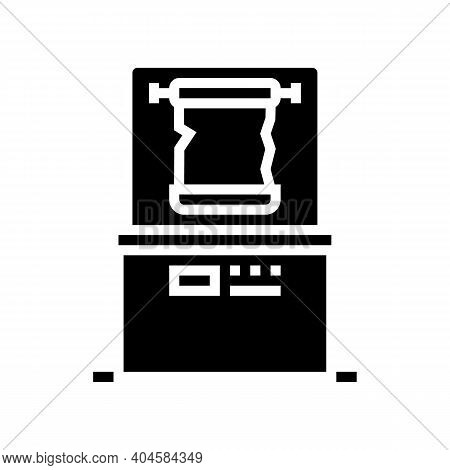 Canvas Exhibit Glyph Icon Vector. Canvas Exhibit Sign. Isolated Contour Symbol Black Illustration