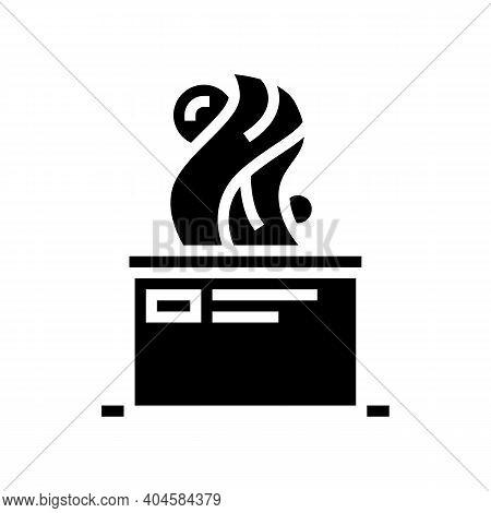Art Sculpture Glyph Icon Vector. Art Sculpture Sign. Isolated Contour Symbol Black Illustration