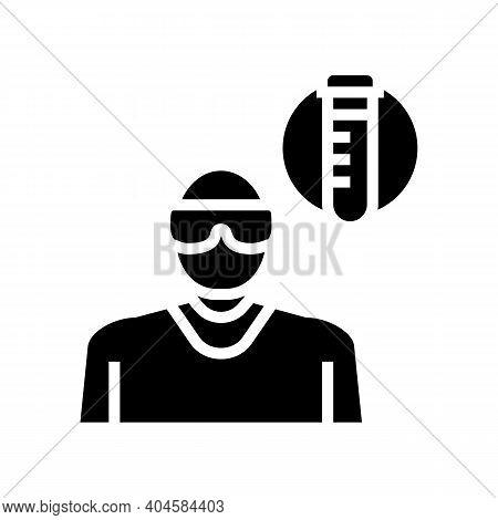 Laboratory Medicine Specialist Glyph Icon Vector. Laboratory Medicine Specialist Sign. Isolated Cont