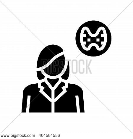 Endocrinology Medical Specialist Glyph Icon Vector. Endocrinology Medical Specialist Sign. Isolated