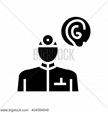 Otorhinolaryngology Medical Specialist Glyph Icon Vector. Otorhinolaryngology Medical Specialist Sig