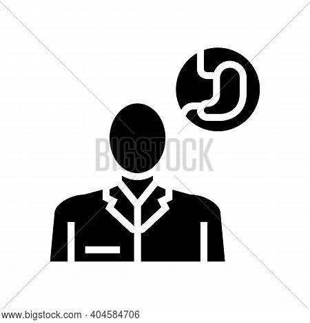 Gastroenterology Medical Specialist Glyph Icon Vector. Gastroenterology Medical Specialist Sign. Iso