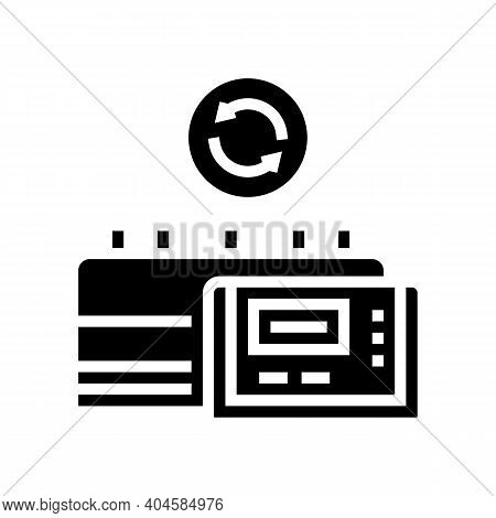 Medicine Factory Equipment Replacement Glyph Icon Vector. Medicine Factory Equipment Replacement Sig