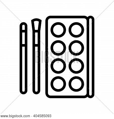 Make-up Cosmetics And Tools Line Icon Vector. Make-up Cosmetics And Tools Sign. Isolated Contour Sym